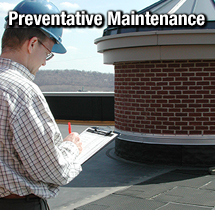 Roofer Conducting Preventative Maintenance Assessment